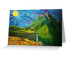 Mountain Range Greeting Card