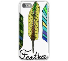 Hand drawn ink feathers set. iPhone Case/Skin