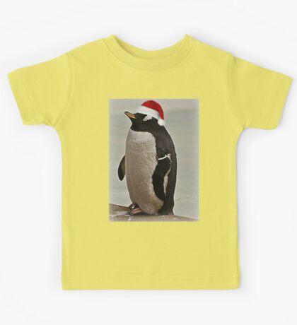 Merry Christmas Mr Penguin Kids Tee