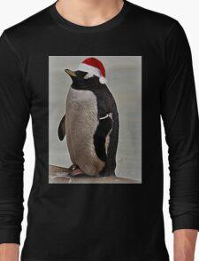 Merry Christmas Mr Penguin Long Sleeve T-Shirt