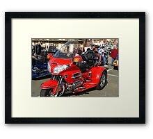 Gold Wing Red Framed Print