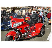 Gold Wing Red Poster