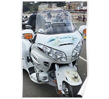 Gold Wing White Poster