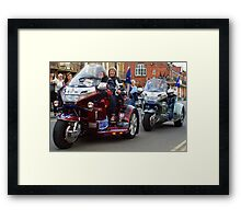 Gold Wing Two Framed Print