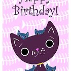 Mum and Kittens card by MFSdesigns