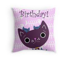 Mum and Kittens card Throw Pillow
