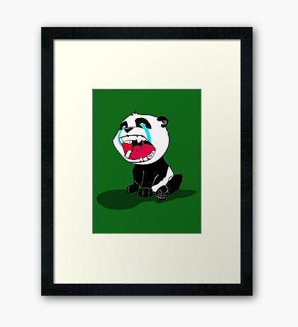 Crying Panda Cub Framed Print