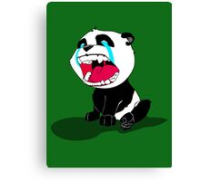 Crying Panda Cub Canvas Print