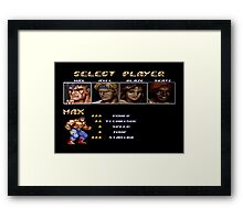 Streets of Rage 2 – Select Max Framed Print