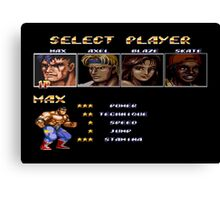 Streets of Rage 2 – Select Max Canvas Print