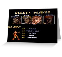 Streets of Rage 2 – Select Blaze Greeting Card