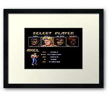 Streets of Rage 2 – Select Axel Framed Print