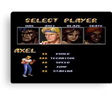 Streets of Rage 2 – Select Axel Canvas Print
