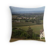 Countryside of England Throw Pillow