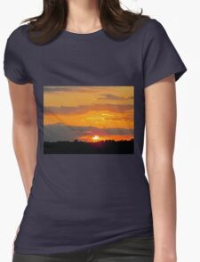 Sun Making A Funny Face Womens Fitted T-Shirt