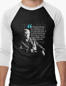 A Quote from Carl Gustav Jung Quote #23 of 50 available Men's Baseball ¾ T-Shirt