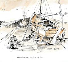 Cabrillo Boat Works: San Pedro Ca by Rob Beilby