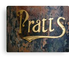 Pratts sign Canvas Print