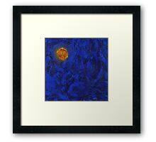 buddha blue six Framed Print