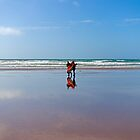 On the beach centred by Garry Copeland