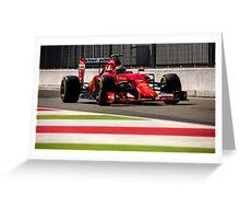 Formula 1 Greeting Card