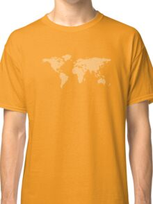 World map with abstract triangles Classic T-Shirt