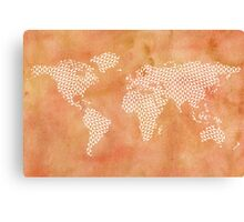 World map with abstract triangles Canvas Print