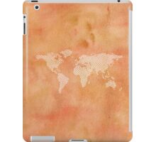 World map with abstract triangles iPad Case/Skin