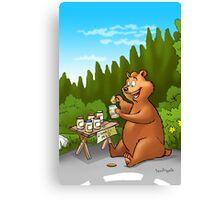 A very very happy bear Canvas Print