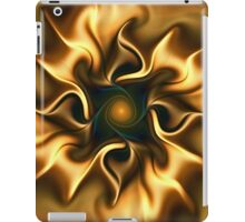 Fractal flower sketch 5 - a semblance of gold iPad Case/Skin