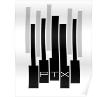 Black and White PTX Logo Poster