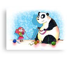 Panda is our friend Canvas Print