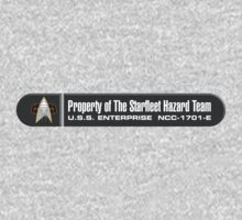 Property of Starfleet Hazard Team Enterprise-E LCARS Version Kids Clothes