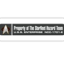 Property of Starfleet Hazard Team Enterprise-E LCARS Version Sticker
