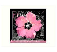 Breast Cancer Awareness Month Art Print