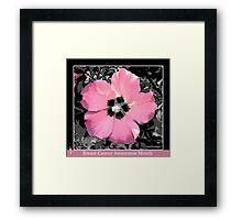 Breast Cancer Awareness Month Framed Print