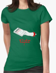 Too Long Didn't Read Dark Womens Fitted T-Shirt