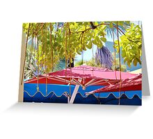 Double Shade- South Beach- Lincoln Road Greeting Card