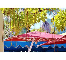 Double Shade- South Beach- Lincoln Road Photographic Print