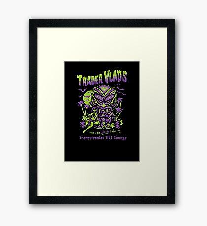Trader Vlad's Transylvanian Tiki Hut Framed Print