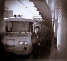 My train driver friend AT Ueno station by science