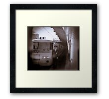 My train driver friend AT Ueno station Framed Print