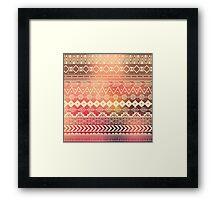 Aztec pattern 01 Framed Print