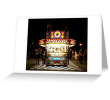 Cotton Candy & Candy Apple Stand Greeting Card
