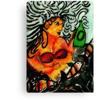 Mermaid. watercolor Canvas Print