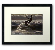 Kite surfing 8833e Framed Print