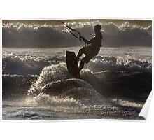 Kite surfing 8833e Poster