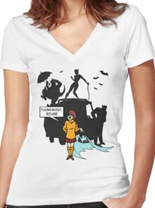 JINKIES! Women's Fitted V-Neck T-Shirt