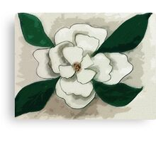 white Magnolia bloom, watercolor Canvas Print