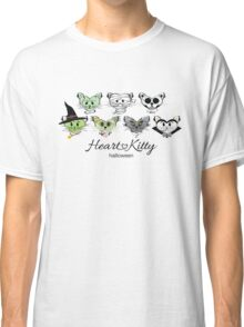 HeartKitty Halloween Cats with Logo Classic T-Shirt